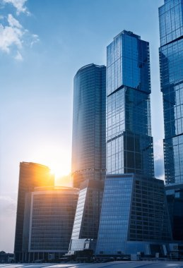 Modern skyscrapers business centre in Moscow