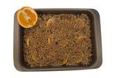 Flapjack oat cake isolated — Stock Photo