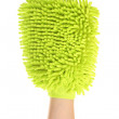 Female hand with sponge mitt — Stock Photo #9080340