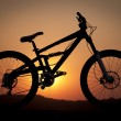 Bike  silhouette — Stock Photo