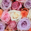Pastel rose wedding flowers — Stock Photo