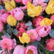 Sping bouquet: yellow and pink tulips — Stock Photo #10053771