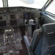Airplane cockpit — Stock Photo #10078054