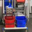Cleaning equipment trolley — Stock Photo