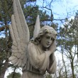 Guardian Angel grave monument — Stock Photo