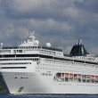 April 21st 2012, Velsen, MSC Lirica sailing to Northsea — Stock Photo