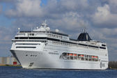 April 21st 2012, Velsen, MSC Lirica sailing to Northsea — Foto de Stock