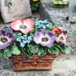 Ceramic sympathy flowers in France — Stock Photo #10636039