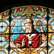 Stained glass in a French church — Stock Photo