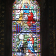 Stained glass in a French church — Stock Photo #10636258