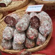 Sausages on a market in the Provence — Stock Photo #10636762