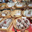 Sausages on a market in the Provence - Stock fotografie