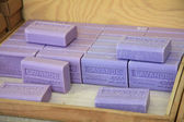 Lavender soap on a french market — Stock Photo