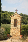 Chapel near a road in France — Stock Photo