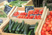 Vegetables on a french market — Stock Photo