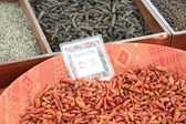 Different sorts of pepper and other spices — Stock Photo