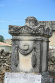 Detail of a grave ornament in France — Stock Photo