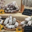 Sausages on a market in the Provence — Stock Photo