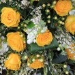Wedding bouquet in yellow — Stock Photo