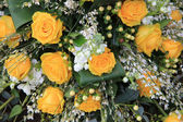 Wedding bouquet in yellow — Stock Photo