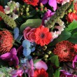 Mixed flower arrangement in pink and red — Stock Photo #9210115