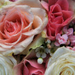 Detail of bridal bouquet — Stock Photo