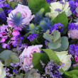 Floral arrangement in blue and purple — Stock Photo #9496265