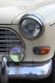Detalle de un frente de coches de época — Foto de Stock