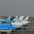 March, 24th Amsterdam Schiphol Airport planes on gate, platf — Stock Photo #9731298
