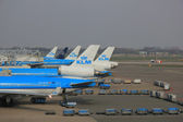 March, 24th Amsterdam Schiphol Airport the Netherlands, platform — Stock Photo