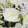 Detail of a white bridal bouquet — Stock Photo #9819990
