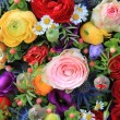 Mixed summer flowers — Stock Photo