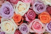 Pastel rose wedding flowers — Стоковое фото