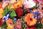 Mixed pink flower arrangement — Stock Photo