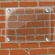 Abstract vector plane on wall — Stock Photo