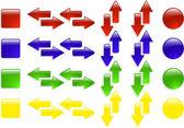 Kolor wektor web strzałki ikony zestaw — Wektor stockowy
