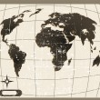Stock Photo: Vector old world map