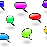 The vector color shiny speech bubbles set — Stock Photo