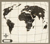 The vector old world map — Stock Photo
