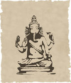 A estátua de ganesha do vetor — Fotografia Stock