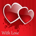 Vector background Day Valentine — Stock Photo