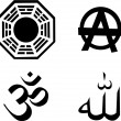 Royalty-Free Stock Vector Image: The vector religion symbol set