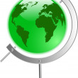 The vector green globe — Stock Vector