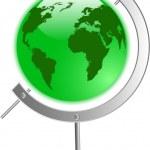 The vector green globe — Stock Vector