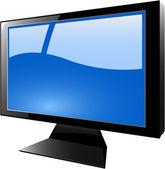 The vector blue tft monitor — Stock Vector