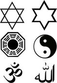 The vector religion symbol set — Stock Vector
