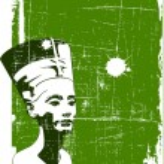 Vector head of Nefertiti — Stock Vector