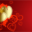 The vector valentines day background — Stock Vector