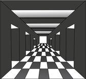 抽象走廊与打开大门 — 图库矢量图片