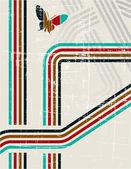 レトロなグランジのベクトルの背景 — ストックベクタ